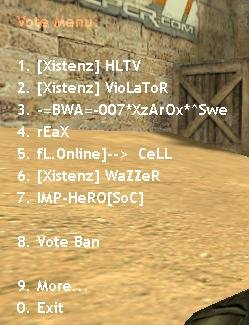 Плагин Vote Kick/Ban Menu