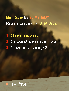 MiniRadio для cs 1.6