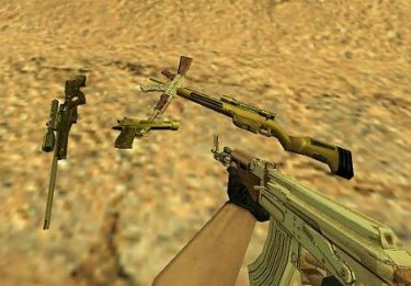 Gold Weapon Pack For CS 1.6