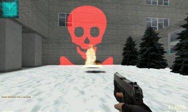 Взрыв ввиде черепа